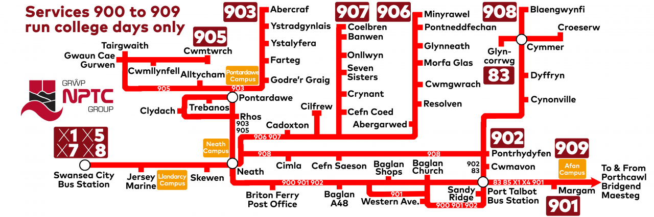Neath Port Talbot College Bus Service | South & West Wales | First Bus
