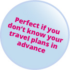 Roundel image: Perfect if you don't know your travel plans in advance