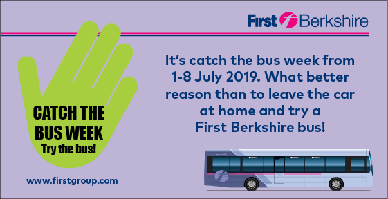 Catch the bus week, 1-8 July 2019   Berkshire & The Thames