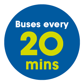 Buses every 20 mins