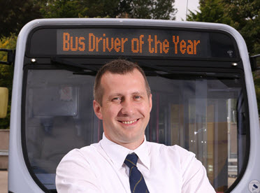 First Aberdeen Bus Driver of the Year Adam Ksiazek
