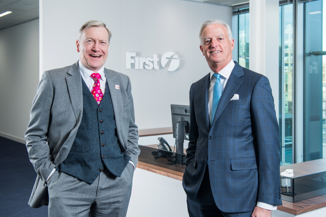 Sir Tony Hawkhead (CEO of Action for Children) and Tim O'Toole (Chief Executive of FirstGroup)
