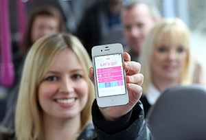 mTicket App on a mobile phone