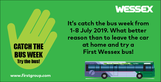 Catch the bus week, 1-8 July 2019   Wessex, Dorset & South