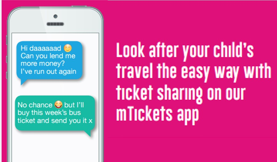 ticket sharing on mtickets app advert