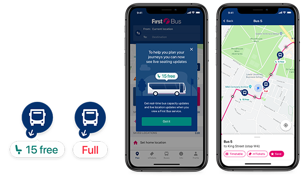 First Bus shows capacity on app