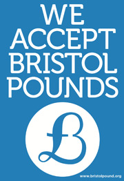 we accept bristol pounds logo