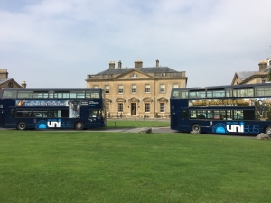 Bath Spa Uni Bus brought to you by First Bus