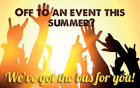 summer events travel image with hands in the air on sunny background