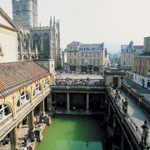 roman baths aerial view bristol