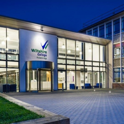 wiltshire college entrance external view