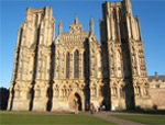 wells cathedral bristol external view