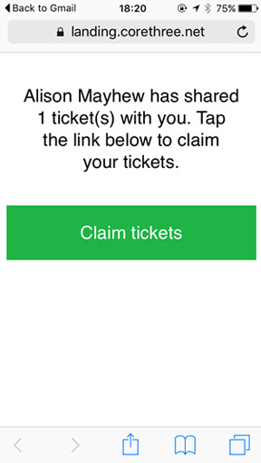 Claim ticket