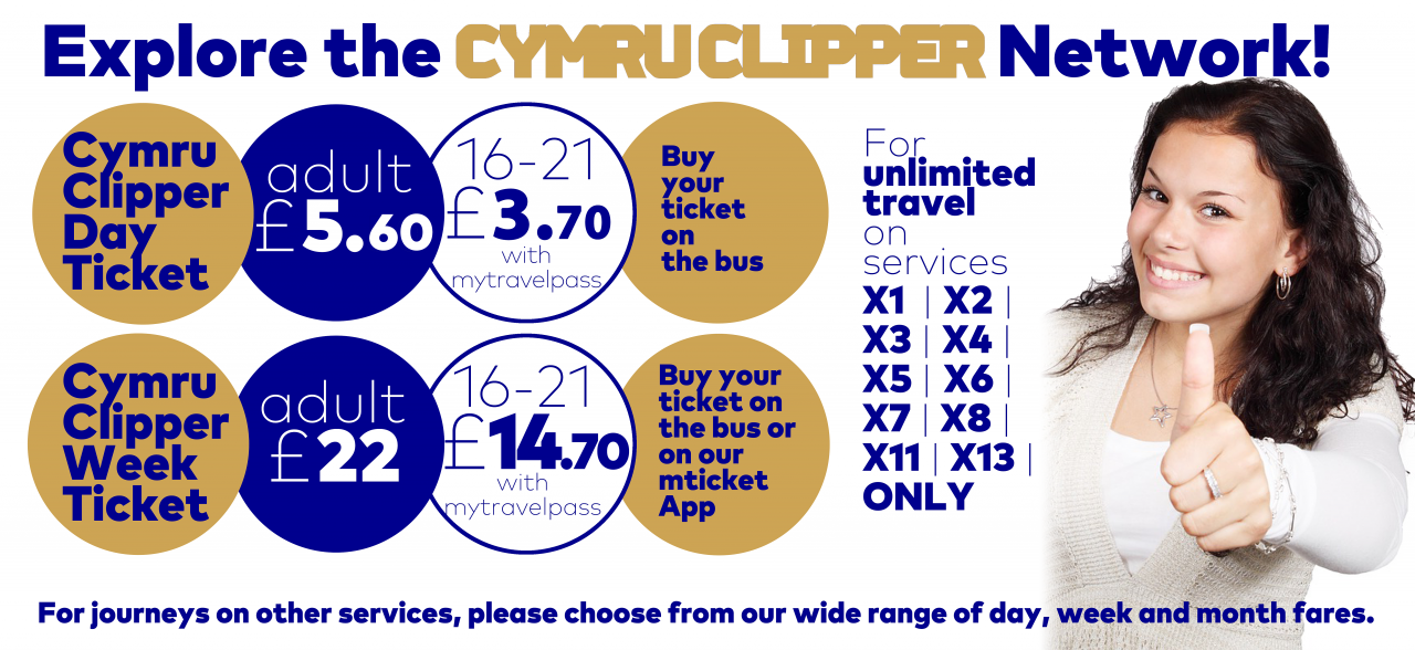 explore the cymru clipper network ticket prices banner