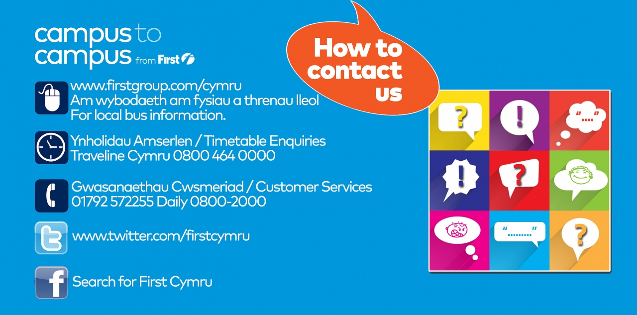 First Cymru unibus swansea contact us banner