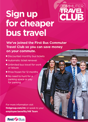 Commuter travel club flyer