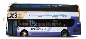 X3 Bus Route Greater Glasgow First Bus