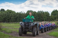Lancaster Park and Animal Farm tractor carrying young children