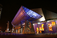 Lowry theatre at night external view