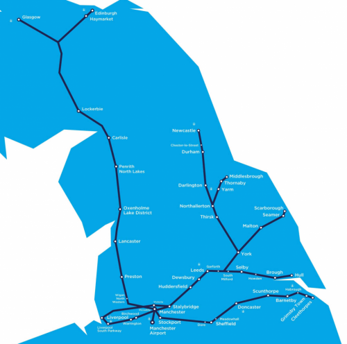 transpennine express route map uk