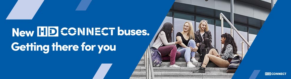 New HD Connect buses. Getting there for you.