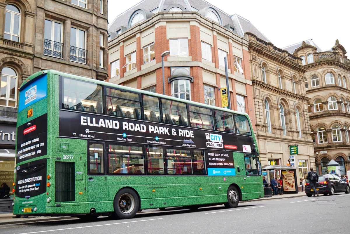Elland Road Park and Ride bus in city centre