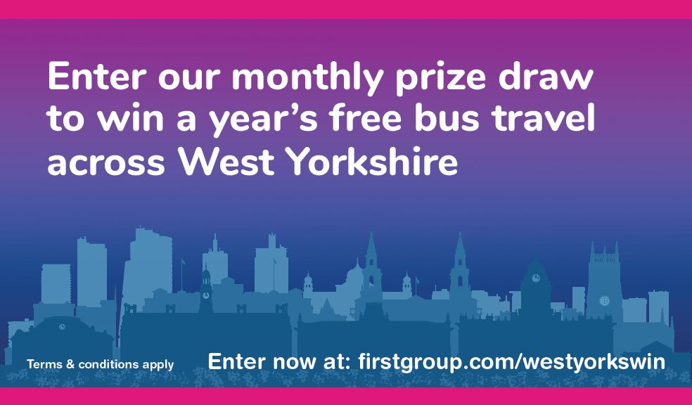 Enter our monthly prize draw to win a year's free bus travel across West Yorkshire