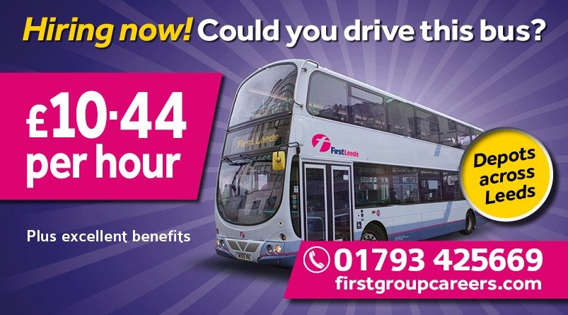 Bus driver recruitment–apply now! | Leeds | First Bus