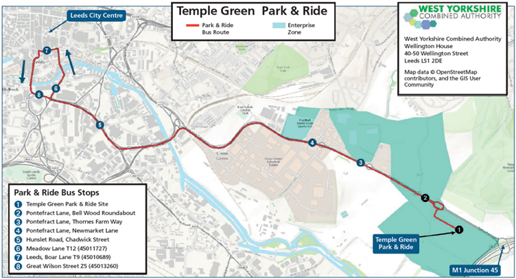 Temple Green Park & Ride | Leeds | First Bus