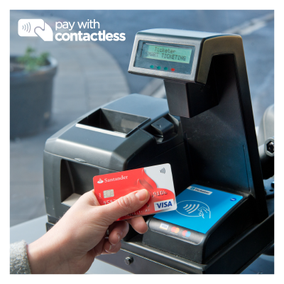 contactless payment image santander card first bus