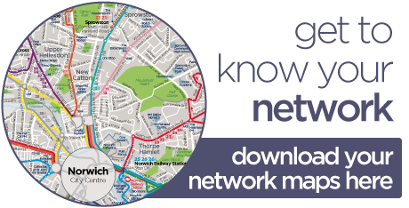 Norwich Bus Routes Map Network Norwich | Norfolk & Suffolk | First Bus