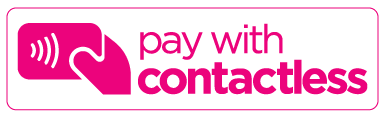pay with contactless pink logo