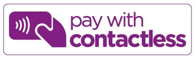 pay with contactless purple logo