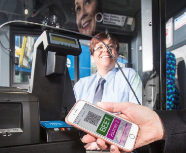 First Bus contactless and smarter ticket use scene