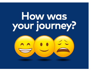 how was your journey feedback icon