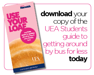 First Bus UEA students guide use your loaf flyer download icon