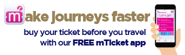 First Bus East Coast and Norwich X1 X11 mTickets app advert