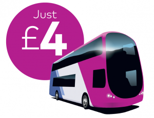 first bus double decker just £4 advert