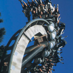 Alton Towers twisting rollercoaster