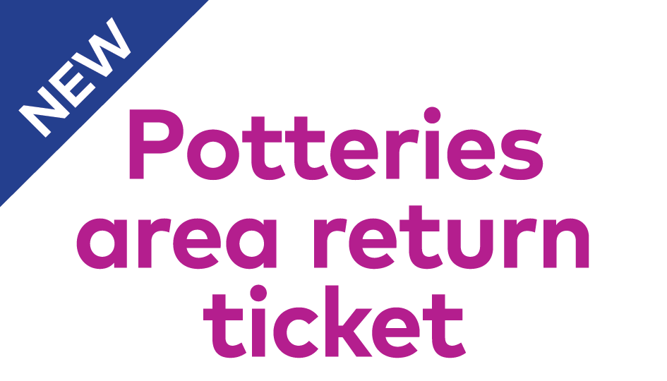 new potteries area return ticket header