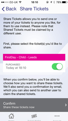 Share Ticket