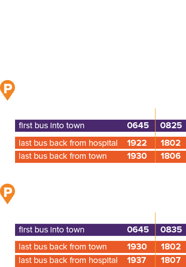 how often Taunton park & ride buses run