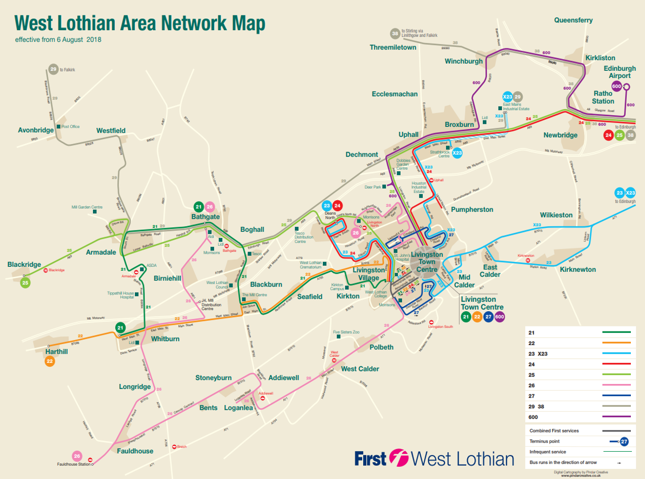 West Lothian Network Changes | South East and Central