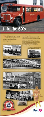 first bus Into the 60's informative leaflet