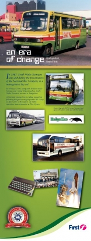 first bus An era of change bus evolution leaflet
