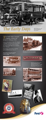 first bus South Wales the early days history leaflet