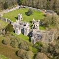 lamphey bishops' palace distant aerial view
