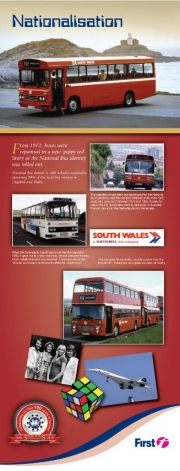 poppy red national bus identity informative leaflet