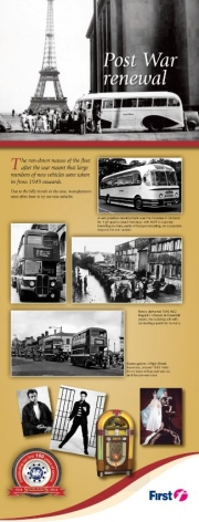 first bus post-war renewal history informative leaflet