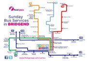 first cymru sunday bus services bridgend route map